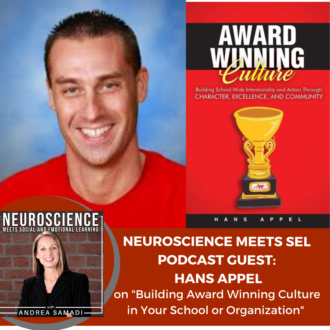 """Author Hans Appel on """"Building an Award Winning Culture in Your School or Organization"""""""