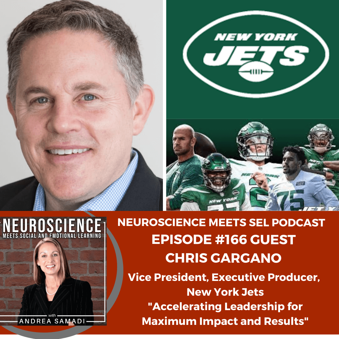"""Vice President, Executive Producer of the New York Jets, Chris Gargano on """"Accelerating Leadership for Maximum Impact and Results"""""""